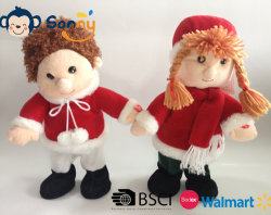 Personnalisable en peluche de Noël musical Boy & Girl chantant et dansant Toy