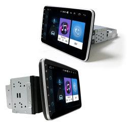 10 9pouces écran tactile rotatif 1unique de 2 DIN DIN Android voiture Autoestereo Radio MP5 Lecteur de DVD du système de divertissement multimédia