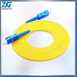 Commerce de gros fait sur mesure cordon de raccordement SC à fibre optique mode unique de 3 m de câble de pontage