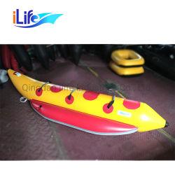 O Ilife PVC Brinquedos de água única Pessoa banana boat inflável barco inflável de banana boat para um tamanho personalizado