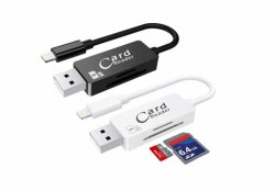 Кабель USB для зарядки iPhone с помощью считывающего устройства карточки 2 в 1 USB-кабель устройства чтения карт памяти (OM-RC002)