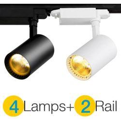 Lamp van het Aluminium van het hoge LEIDENE van de MAÏSKOLF van de Macht Spoor van het Spoor de Lichte 12Wiste 20Wiste 30W + het Spoor van het Spoor voor de Commerciële KleinhandelsVerlichting van de Schijnwerper