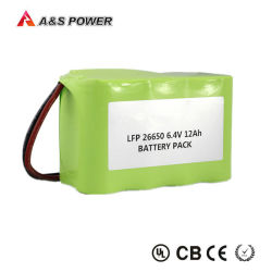 26650 6.4V 12ah LiFePO4 배터리 팩