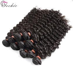 Необработанные глубокую волны бразильский Virgin волосы вьются связки оптовой 100 Реми прав волосы вьются