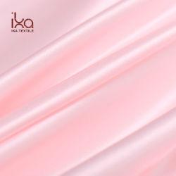 En pure soie couleur haute qualité respirable solides femmes Vêtement Tissu satin rose Shimmer stretch