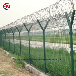 Barriera di sicurezza saldata ricoperta PVC della rete metallica