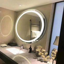 2019 Stand de moderno en el suelo, signo del espejo con luz LED y el logotipo de la tienda