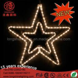 Indicatore luminoso decorativo di figura della doppia stella del LED per la festa