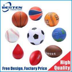 Espuma de PU logotipo impresso personalizado colorido Tamanho Mini Terapia ornamentos Vent Anti-Stress Squeeze Relievers-Balls iô-iô estresse de brinquedo para presente de promoção de Esferas