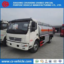 4X2 Dongfeng 8000L de carburant du chariot de Bowser, camion-citerne avec pompe et distributeur