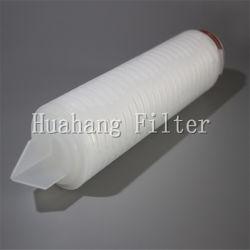 Filtro da acqua industriale pieghettato membrana della cartuccia di filtro dai 0.2 micron pp