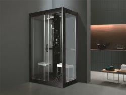 Monalisaの蒸気のサウナ(M-8285)の黒い円形のコンピュータ化されたシャワー室