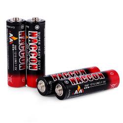1.5V R6p AAのサイズカーボン亜鉛電池の頑丈な電池