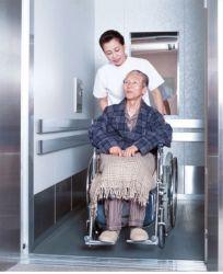 Especialmente diseñado High-Rise pasajero cama de hospital en camilla elevador