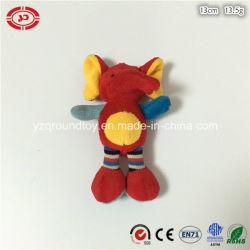 Rojo pequeño lindo bebé OEM de felpa suave Peluche Llavero elefante