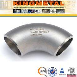 4 pouces de sch40 SS304 SS316L 90 degré les coudes en acier inoxydable