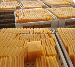 Amarillo transparente de lavado de ropa de la barra de jabón detergente