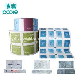 Venta caliente en relieve el papel de aluminio recubierto de PE para el empaquetado de alimentos y la impresión, PE embalaje papel para el azúcar granulado, Coffea bolsita