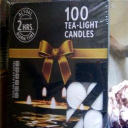 Vela de cera de parafina velas Tealight decorativos para Navidad