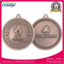 Kundenspezifische Antike Sports Medaille mit Farbband