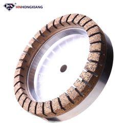 Ningún diamante que saltara que muele la rueda dividida en segmentos interna para el vidrio