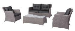 4pcs delicado salón al aire libre muebles de mimbre sofá configuración