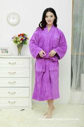 卸し売り工場価格のカスタムロゴの男女兼用の100%年の綿のテリーのホテルの浴衣