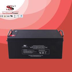Oplaadbare batterij Verzegelde loodaccu Sunstone Brand 12V 250Ah