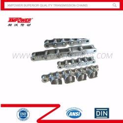 سلاسل البكرات الدقيقة ذات الميل القصير من الفولاذ المقاوم للصدأ (الفئة A) معيار ANSI/ISO