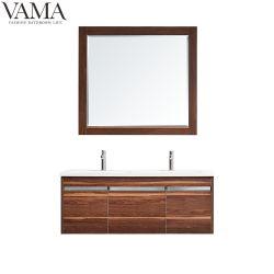 Vama 48 pouces Double bols de bois de mélamine moderne salle de bains armoire avec miroir 767048m