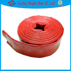 Tubo flessibile protetto contro le esplosioni dell'acqua del PVC Layflat di alta pressione di colore rosso di 2/3/4/6 di pollice