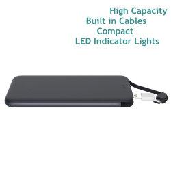 Rechthoekige, kleurrijke superslanke universele draagbare USB-bank Rt0502 Voor het tablet van de telefoon