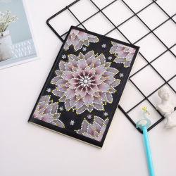 Flor Rosa Imagem bricolage Notebook Diamante Bordados Livro de Arte em forma especial Diamond Dom do notebook