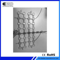 P100mm 고품질 영상 매체 LED 광고 건물 정면 유연한 LED 메시
