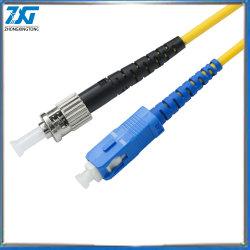 20m Sc-Sc blindados interior Cable de fibra óptica monomodo Simplex Cable