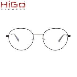 Blocchi per grafici rotondi degli occhiali di Eyewear del telaio dell'ottica del nuovo di stile metallo pieno dell'orlo