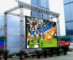 실외 빌딩 축구 경기장 주변 상업 광고 디스플레이 대형 LED 화면