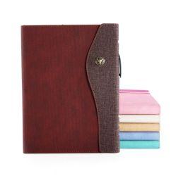 De aangepaste Bureau van het van het Bedrijfs notitieboekje Agenda China van de Dekking van het Leer van het Notulenboek van de Vergadering van de Blocnote A5