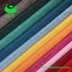100 % polyester Tissu canapés colorés