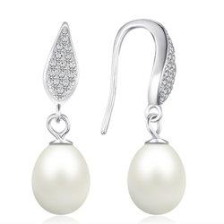 925純銀製の宝石類のギフトとして淡水の真珠のイヤリングの方法宝石類かアクセサリ