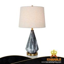 Cerâmica moderna decoração com tecidos candeeiro de mesa de sombra (KAJRG0001)