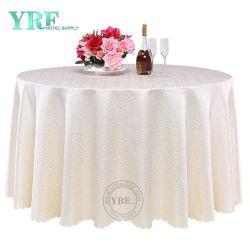 최신 판매 Pintuck 호박단 120 둥근 백색 테이블 피복