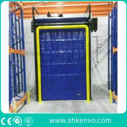 자동 냉동고 창고 고속 PVC 직물 가열 장치가 있는 신속한 롤 업 도어