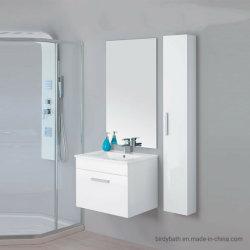 Composición del Gabinete de baño suspendido 60 lavabo blanco espejo de pared
