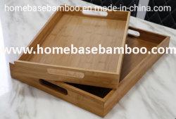 FDA LFGB Bambou thé café sert des fruits de la vaisselle de bac Le bac