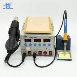 HAIRUI 8683D+ цифровой 3в1 железо горячего воздуха бессвинцовой пайки SMD Переделайте сварочные работы прибора