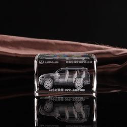 Красивые 3D лазерная модель автомобиля хрустальное стекло Cube плотность бумаги