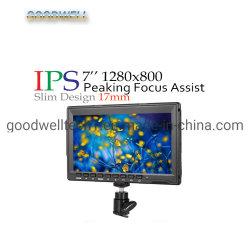 1280X 800 op Camera zetten IPS van de Input HDMI LCD Monitor op LCD van 7 Duim Vertoning