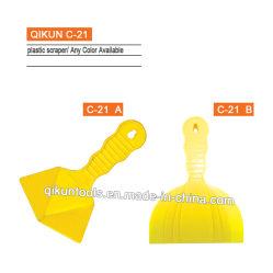 C-21 ABS van de Hulpmiddelen van de Hand van de Hardware van de Verf van de Decoratie van de bouw de Gele Reeks van de Schraper van het Mes van de Stopverf van de Spatel van de Kleur Plastic