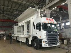 トラックFoldable段階が付いている移動式ショーのトラックを広告するJAC P6 P8 P10の屋外の表示移動式LED